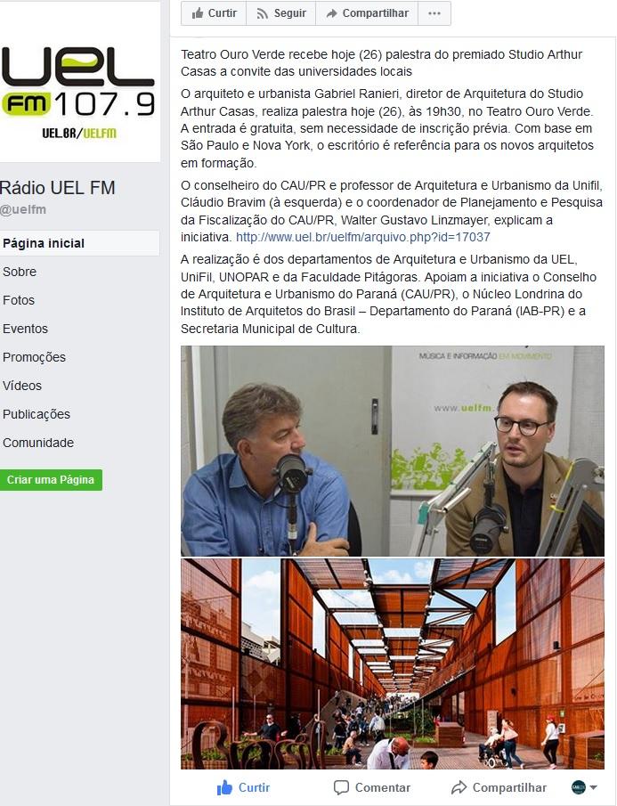Entrevista Rádio UEL