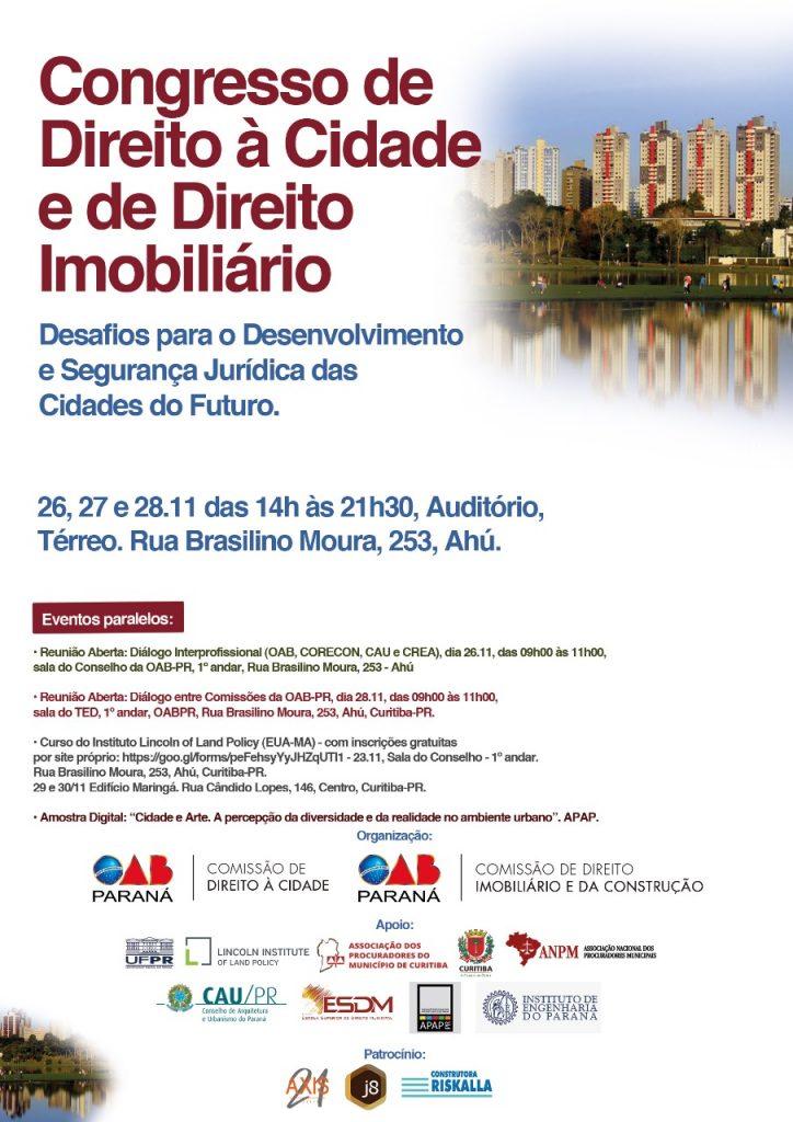 Congresso de Direito à Cidade e de Direito Imobiliário