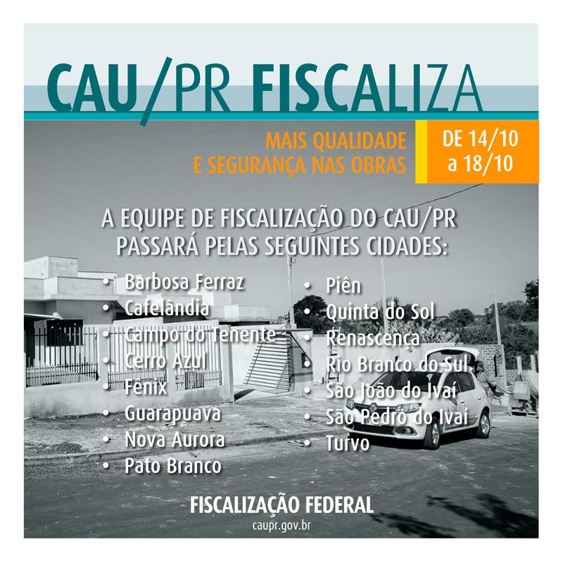 CAU/PR FISCALIZA