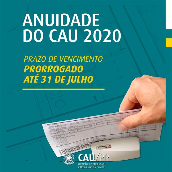 Prazo Anuidade 2020