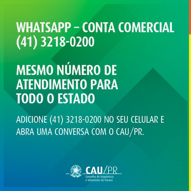 WhatsApp Conta Comercial